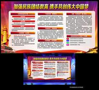 加强民族团结共创中国梦展板
