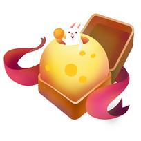 原创元素中秋月饼月球礼盒兔子