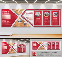 红色简约企业通用立体文化墙