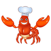 快乐小龙虾原创卡通造型