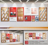 企业木风异形文化墙