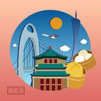 原创城市卡通插画之广州