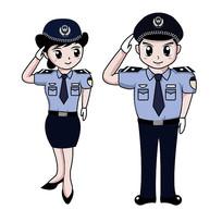 原创警察敬礼图片