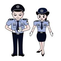 原创警察开罚单伸手元素