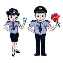 原创警察开罚单元素