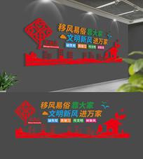 中国社区文化墙布置模板
