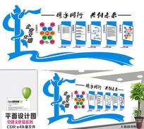 蓝色宣传文化墙设计
