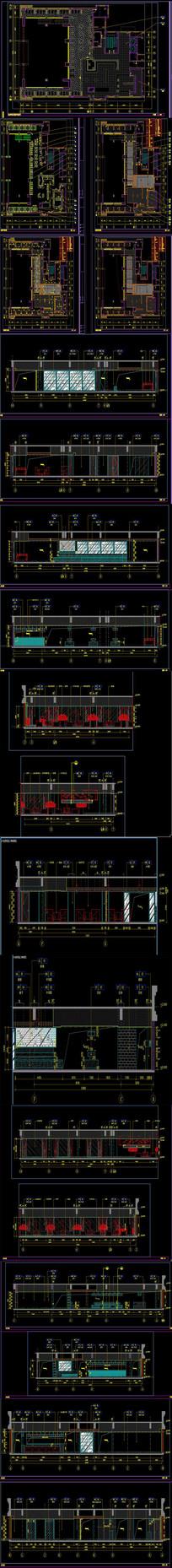 全套自助餐厅CAD施工图