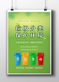垃圾分類保護環境公益海報