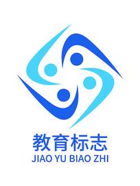 蓝色团结教育标志设计