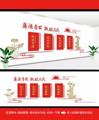 廉政党建文化墙模板