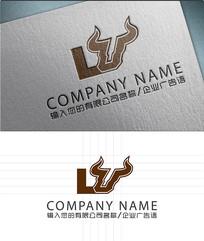 LU字母LOGO标志设计 AI