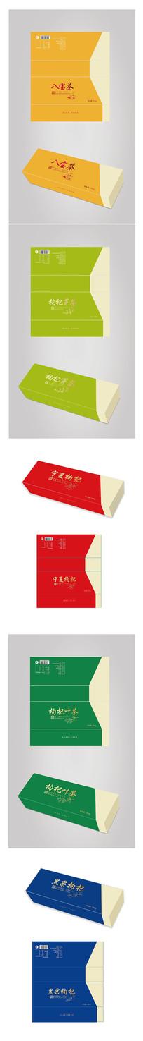 茶叶插画礼品包装系列