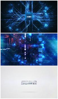 高科技处理器logo片头视频模板
