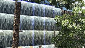 流水瀑布墙  max