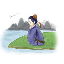 手绘中国风校园文化思考插画元素