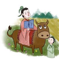 手绘中国风校园文化惜时插画元素