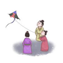 手绘中国风校园文化友善插画元素