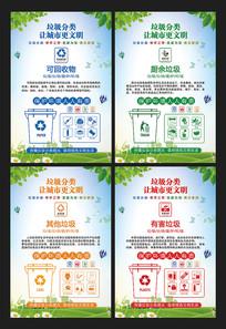 文明城市垃圾分类宣传展板