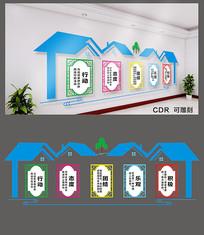 2019年简约企业文化墙设计