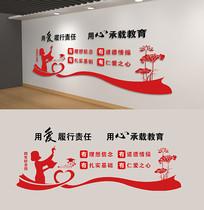 红色四有好老师校园文化墙