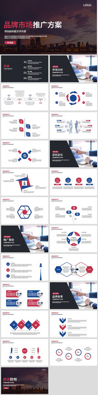 品牌市场推广方案营销策划PPT
