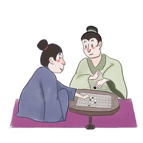 手绘中国风校园文化和谐插画元素