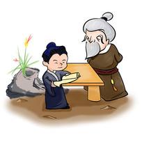 手绘中国风校园文化求学插画元素