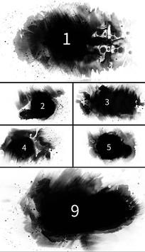 9组水墨墨迹黑滴中国风视频素材