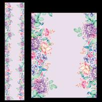 粉紫色花卉婚礼T台设计