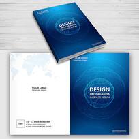 蓝色简约物业管理手册封面