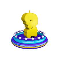生日蜡烛周年庆倒计时数字3