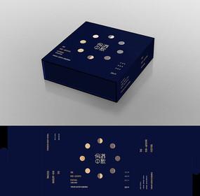 时尚月饼包装盒子包装设计