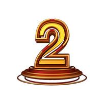 红金质感立体炫酷周年庆倒计时数字2