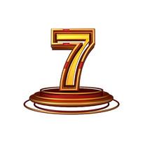 红金质感立体炫酷周年庆倒计时数字7