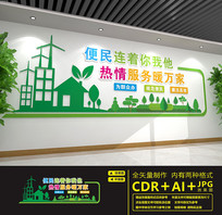 社区便民服务中心标语文化墙