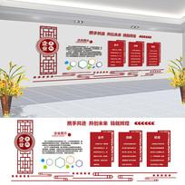 红色企业文化墙设计