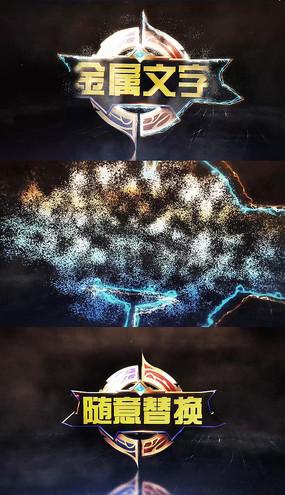 通用粒子汇聚logo片头视频模板