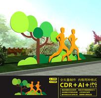 户外运动主题公园雕塑墙