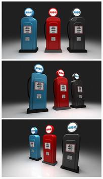 原创卡通加油站汽油3D模型