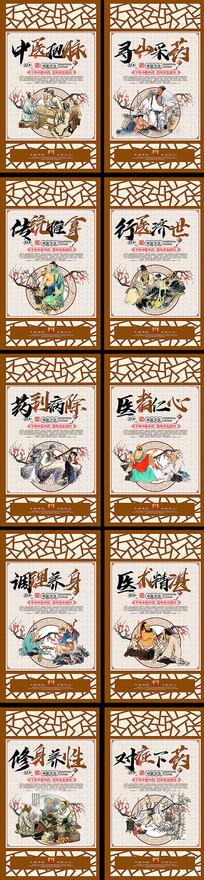 中式中医文化宣传展板