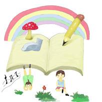 手绘卡通学习乐园的孩子校园文化插画
