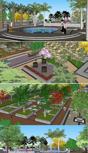 SU模型SU公园景观模型