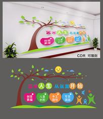 儿童美术宣传文化墙设计