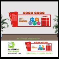 红色创意企业文化墙设计