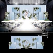 雾霾蓝色婚礼效果图设计浪漫