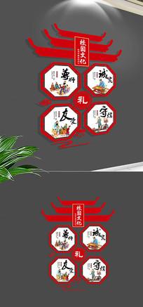 中式古典国学经典礼仪诚信文化墙