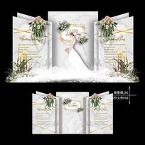 白绿色大理石纹婚礼高级灰婚庆背景素材