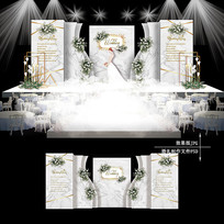 高级灰大理石纹婚礼效果图设计欧式婚庆