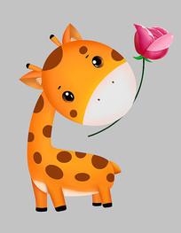可爱卡通动物长颈鹿